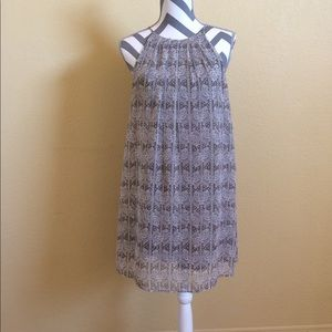 Lush  Grey and White Sundress | S
